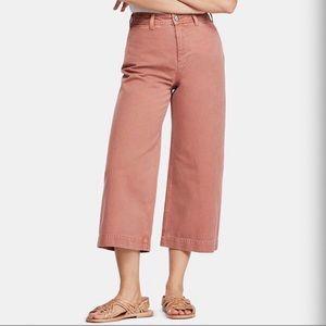Free People Patti Cotton Cropped Pants